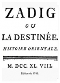 Voltaire: Zadig (Version2)