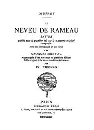 Denis Diderot - le neveu de Rameau