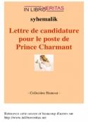 syhemalik: Lettre de candidature pour le poste de prince charmant