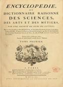 Diderot et D alembert: ENCYCLOPEDIE