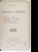Emile Zola: Celle qui m'aime-Contes à Ninon