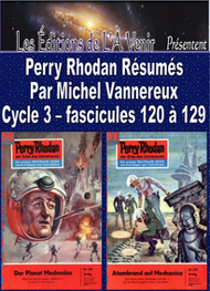 Illustration: Perry Rhodan Résumés-Cycle 3-120 à 129 - Michel Vannereux