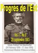 La rédaction: Le Progrès de l'Est-Volume 1-No6-29 septembre 1883