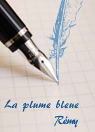 Illustration: La plume bleue - Rémy
