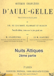 Illustration: nuits attiques (tome 2) - Aulu gelle