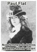 Paul Flat: Nos femmes de lettres – Madame Renée Vivien