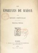 Henry Gréville: Les Epreuves de Raïssa