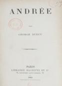 Georges Duruy: Andrée