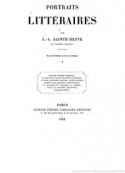 Charles augustin Sainte beuve: Portraits littéraires-La Fontaine