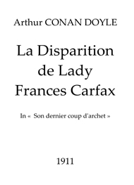 Illustration: La Disparition de Lady Frances Carfax - Arthur Conan Doyle