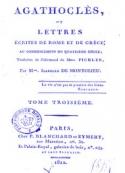Caroline Pichler: Agathoclès-Tome 3