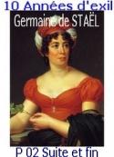 Germaine De staël: Dix années d'exil, fin de la P02 et de l'ouvrage