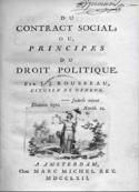 Jean jacques Rousseau: du contrat social