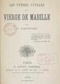 Henri Escoffier: La Vierge de Mabille