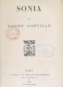 Henry Gréville: Sonia