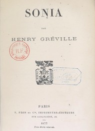 Illustration: Sonia - Henry Gréville