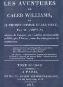 William Godwin:  Les Aventures de Caleb Williams (Tome 2)