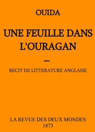 Illustration: Une feuille dans l'ouragan - Ouida