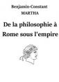 De la philosophie à Rome sous l'empire