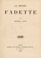 George Sand: la petite fadette (version 2)