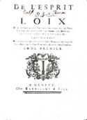 Montesquieu: De l'Esprit des Lois