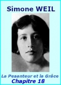 Simone Weil: La Pesanteur et la Grâce, Chapitre 18, La Croix