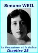 Simone Weil: La Pesanteur et la Grâce, Chapitre 28, L'Intelligence et la grâce