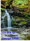 George Sand: Ce que dit le ruisseau