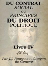 jean-jacques rousseau - Du contrat social Livre4