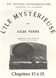 Illustration: L'�le myst�rieuse-Chap13-15 - Jules Verne